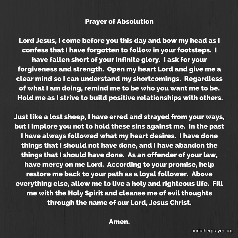 Prayer of Absolution