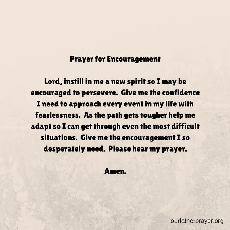 A short prayer for encouragement