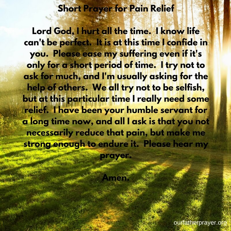 prayer for pain