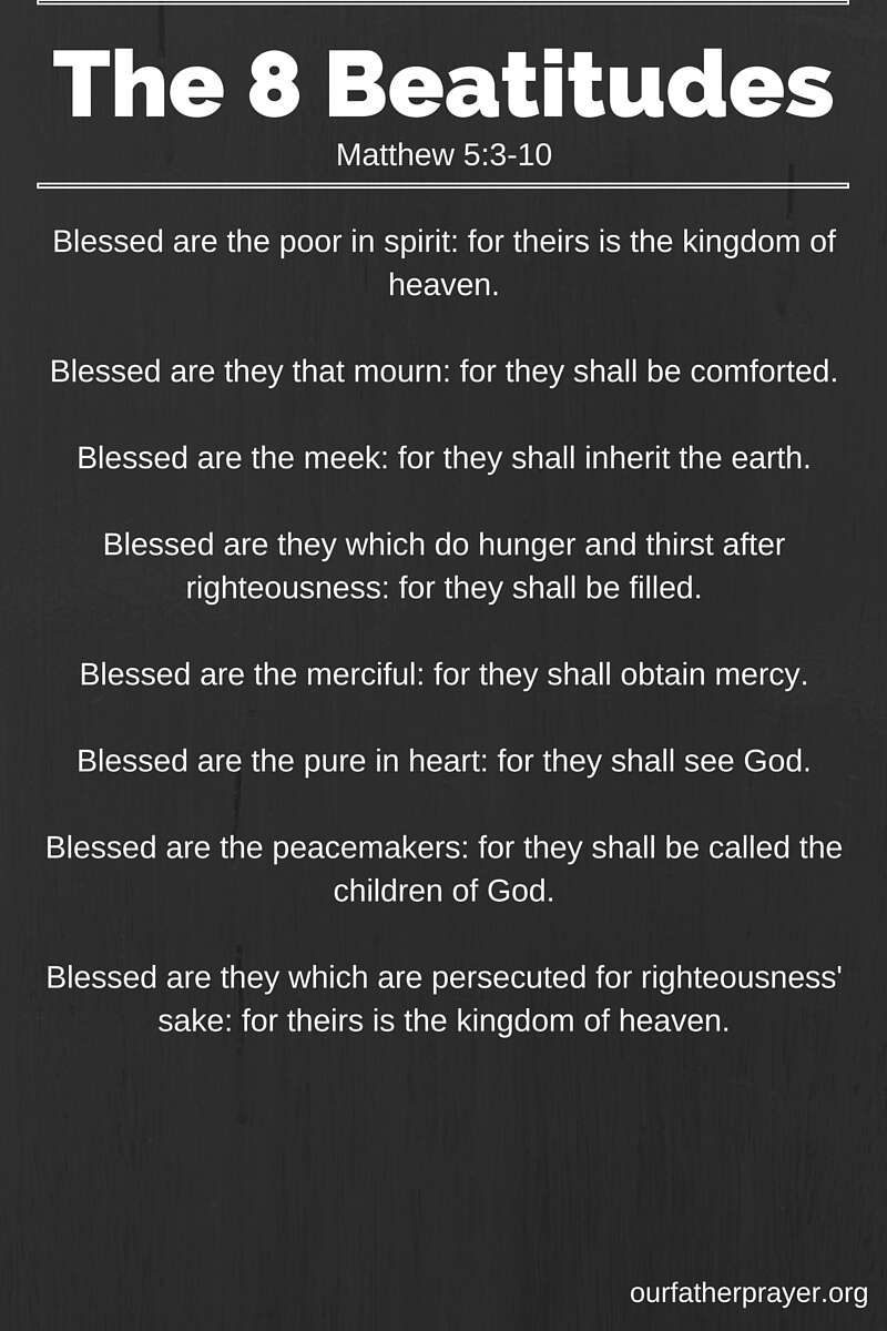 The Eight Beatitudes in Order
