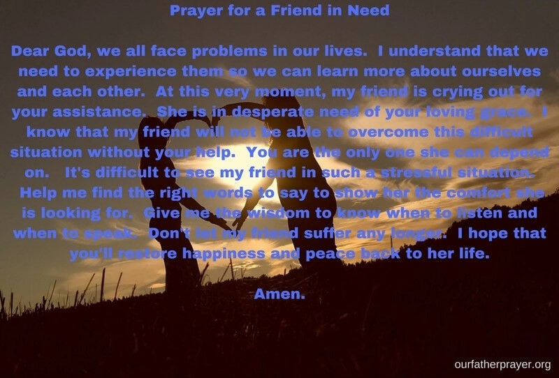 prayers for friends