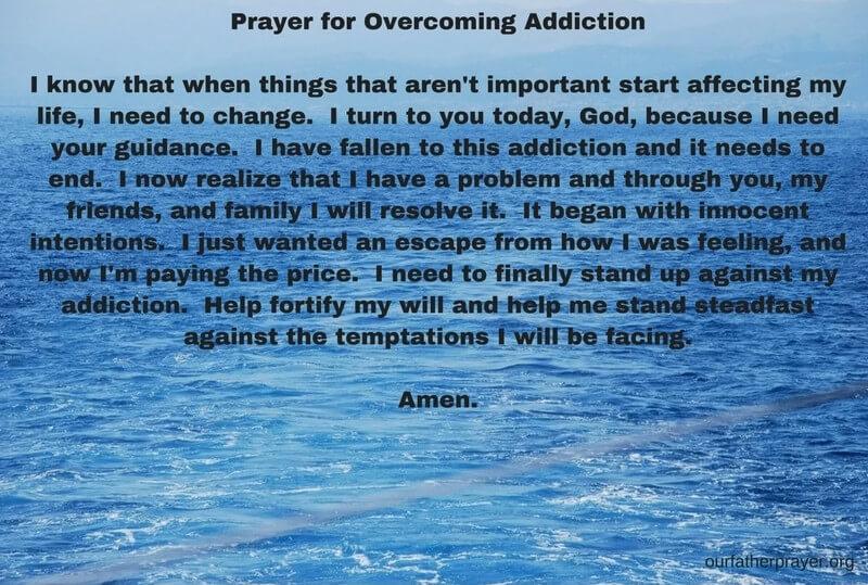 Prayer for overcoming addiction