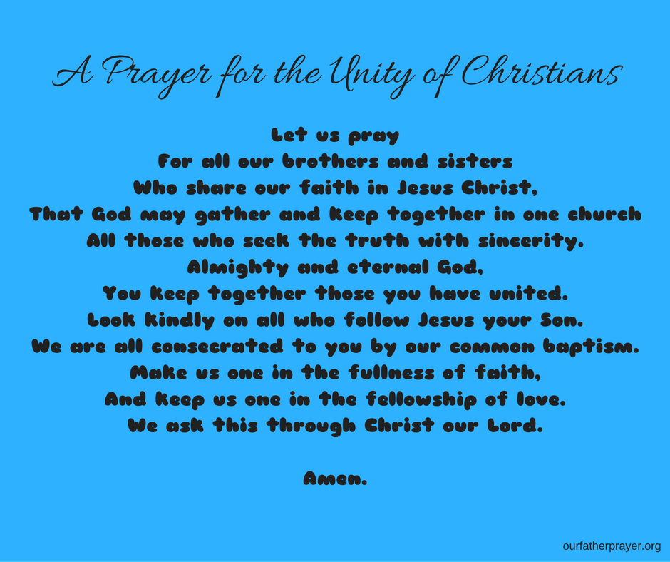 a prayer for the unity of christians