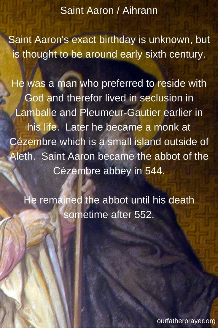 Saint Aaron biography