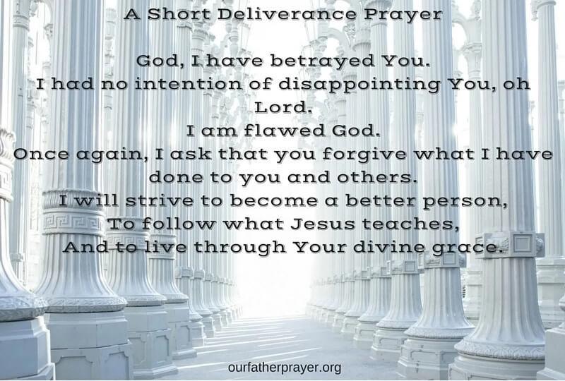 A Short Deliverance Prayer