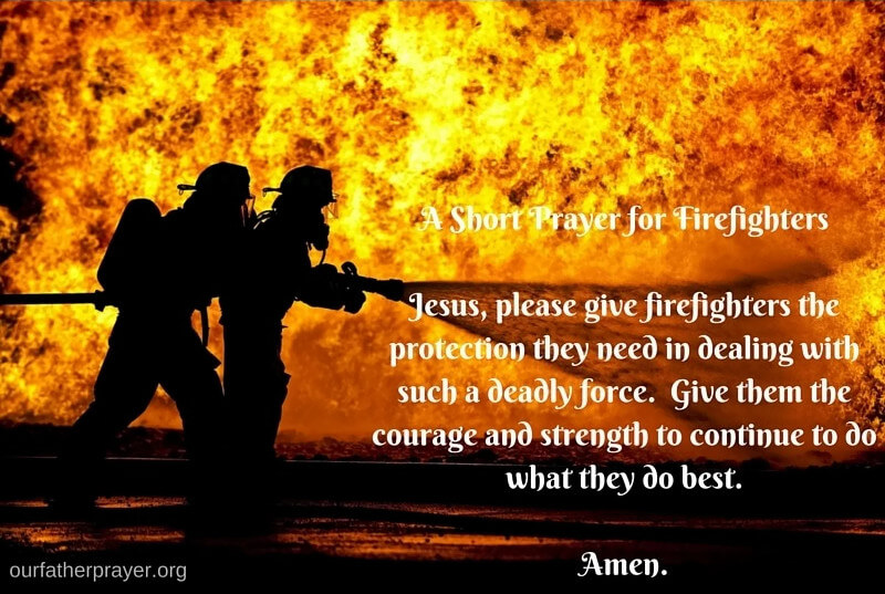 a short prayer for firefighters
