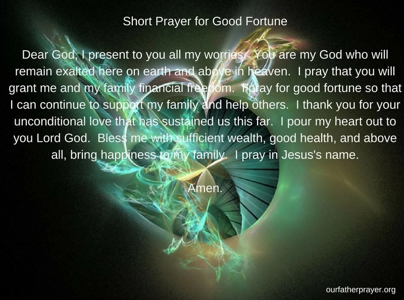 Prayers for Good Luck and Fortune ⋆ Our Father Prayer