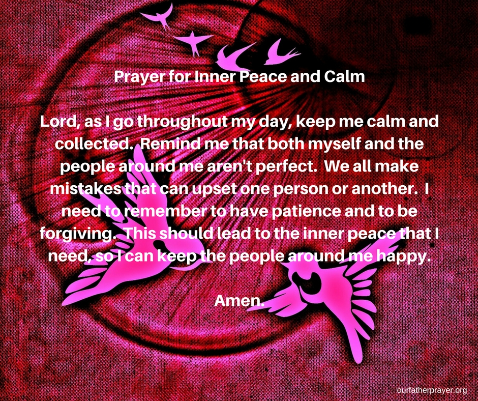 Short Prayer for Inner Peace and Calm