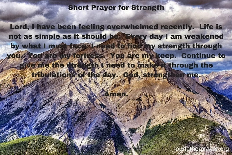 Short prayer for strength